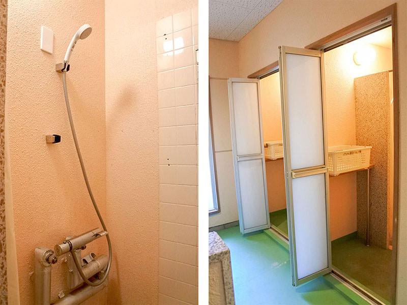 温水シャワーの写真
